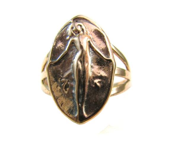 Venus Erycina Erotic Love Ring - Artifact Collection - Rose SIlver