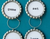 Tennis Anyone CLINKS drink charms set of 4
