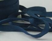 Navy Blue Silk Ribbon, Pantone Marine Blue