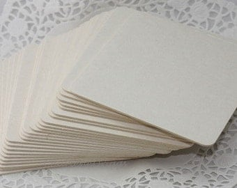 "10 Blank White Coaster Squares, 4"" Square Light/Medium/Heavy Weight Coasters, Chipboard Coasters, Paper Board Coasters, Weddings"