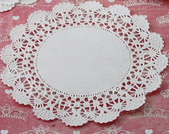 25 Paper Lace Doilies, Choice of Sizes, Weddings, Bag Toppers, Crafts, Favors, Gift Wrap, Scrapbooking, White Paper Doilies, Party Supplies