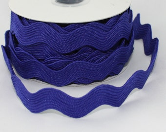 """Royal Blue Ric Rac, Rick Rack, Ribbon 1/2"""" wide by the yard Sewing, Trim, Crafts, Gift Wrap, Scrapbooking, Craft Supplies"""