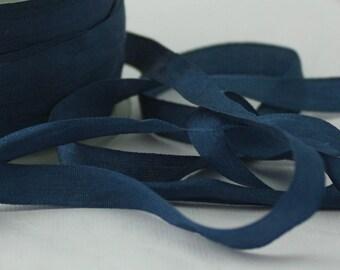 """Ruban de soie bleu marine, 1/4"""" de large par l'yard, mariages, emballage cadeau, mariage nautique, Invitations, Party Supplies, fournitures de bijoux"""