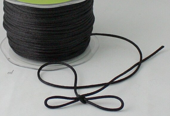 Black Satin Necklace Cording 1 8 Quot Wide By The Yard Black