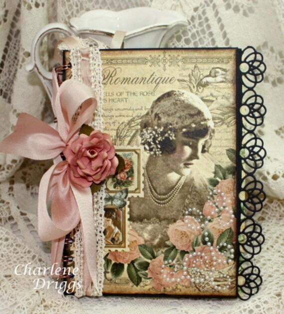 """Wedding Journal, Diary, Prayer Journal, Brides Journal  7"""" x 5"""" OOAK"""