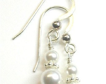 Mika Bridal Swarovski Pearl Drop Earrings