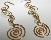 Spun Gold Spiral Earrings
