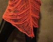 Orange Deconstructed, Shredded Layering Tank Dress
