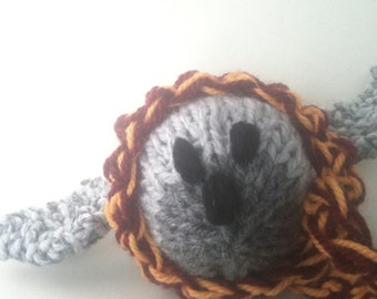 Little Owl - mini owl - Scop's owl - knitted - Ready to ship
