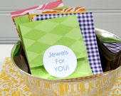 30 Paper Pockets for Small Packaging, Gift Bags, Mixed Brights
