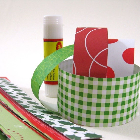 DIY Craft Paper Chain Kit, Christmas Red and Green