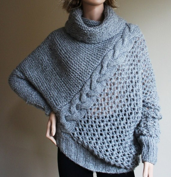 Sale 50 % sweater in light grey color big warm soft