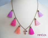 Summer Sorbet Tassel Necklace