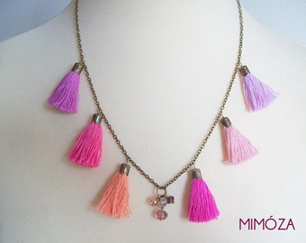 Summer Sorbet Tassel Necklace