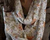 Longer Infinity Scarf - Vintage Floral