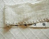 Vintage White Filet Crochet Lace Trim