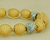 Natural Wood Woven Bracelet. For Men and Women, Raul Collection, Free Shipping