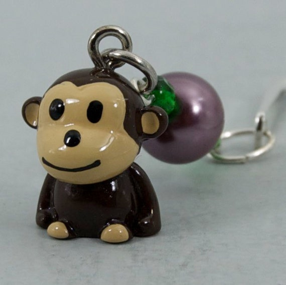 Monkey Mini Bookmark, Shepherds Hook Metal Bookmark