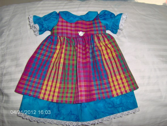 RESERVED FOR  Steph 16 inch Waldorf Doll Dress and Pinafore
