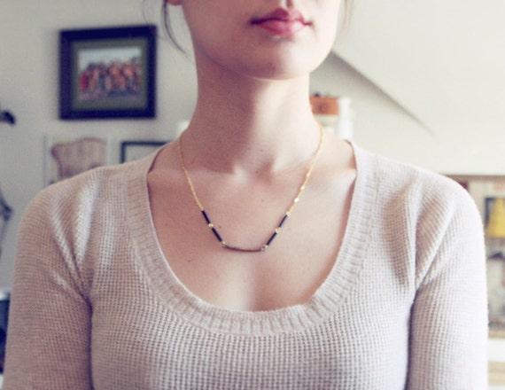 Vintage Black and Gold necklace