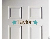 Wall Decal Star Door Vinyl Sticker Personalized Name Word Art Lettering Bluestreak Decals