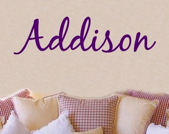 Wall Decal Children Personalized Girls Name Vinyl Sticker Word Art Lettering
