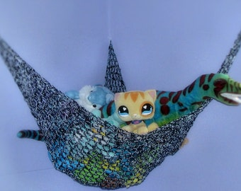Crochet Toy Hammock Stuffed Animal Net - Nursery and Childrens Room Storage in Custom Colors