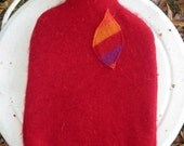 hot water bottle with cashmere wool cover