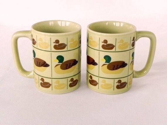 2 Otagiri Ducks Mugs