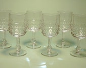 Midcentury Modern Crystal Wine Glasses