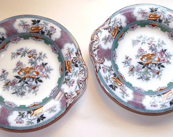 Pair of Antique English Transferware Dishes