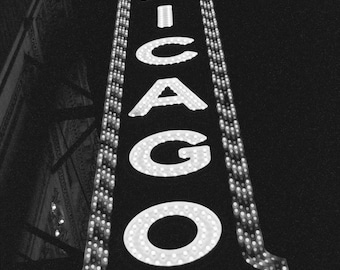 5 x 7 - Chicago - My Kind of Town - black and white photo