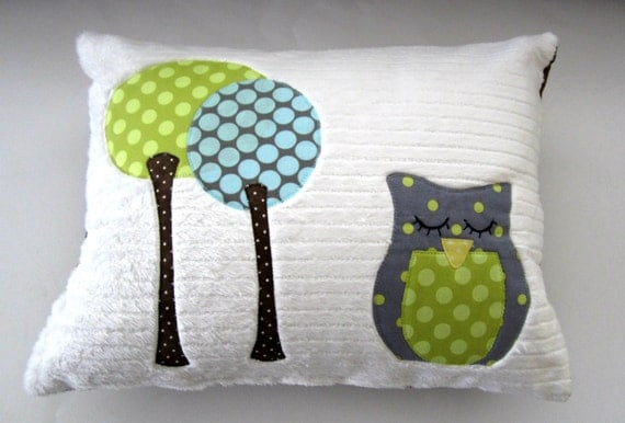 A Sleepy Little Owl Pillow
