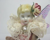 "Fairy ""Hope""  Assemblage Art Doll Paperweight"
