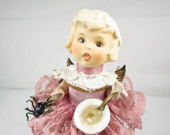 """Angel """"Little Miss Muffet"""" Assemblage Art Doll"""