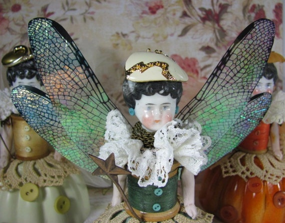 """Doll """"Sage"""" Assemblage Art Fairy SALE PRICED reduced 40%"""