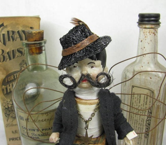 "Angel ""Gypsy Thief"" Assemblage Art Doll"