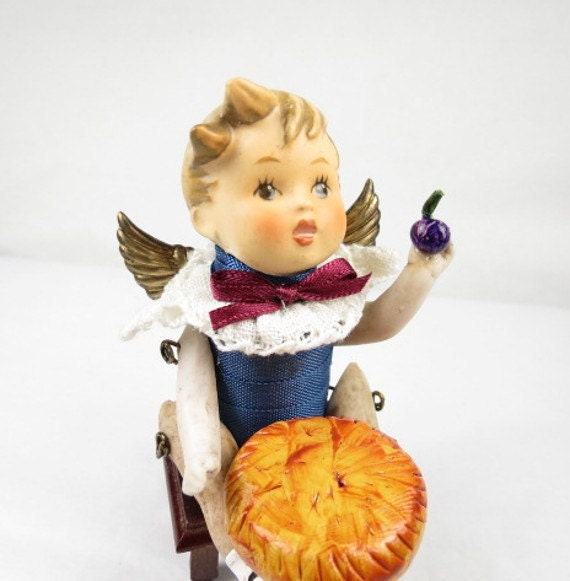 """Angel """"Little Jack Horner"""" Assemblage Art Doll"""