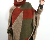 Reserved for marlyn Long poncho sweater I designer knitwear