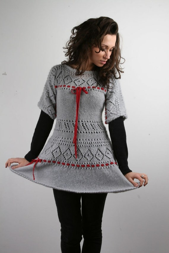 SALE Chic Mohair Hand knitted dress