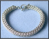 Full Persian Bracelet Chain maille Kit with Tutorial in Non Tarnish Silver Plate with toggle clasp and connector rings