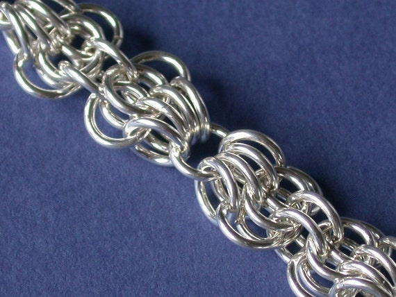 Chainmaille Kit with Tutorial - Butterfly Weave Bracelet in Argentium Sterling