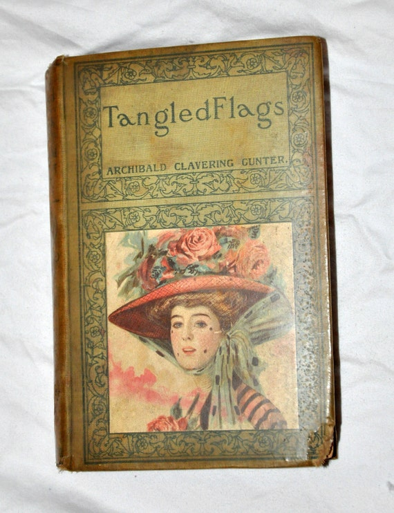 Beautiful Antique Victorian Tangled Flags Book