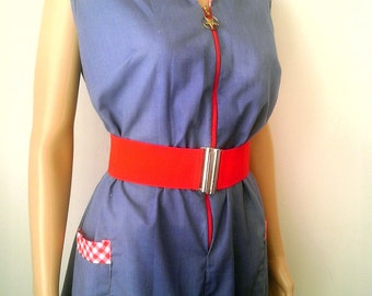 Vintage 1960's Blue Day Dress by Sue Sherry