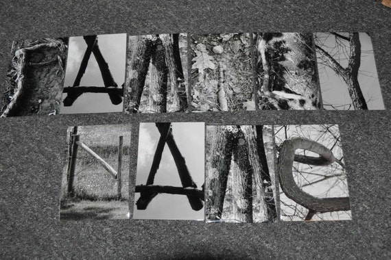 10 Nature word art photography alphabet letters