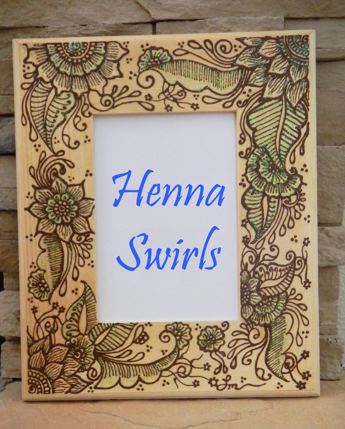 Henna Script: Henna Picture Frame One Of A Kind Original Henna By