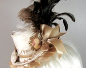 Vintage Cameo Mini Top hat. Marie Antoinette Style.