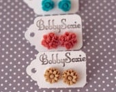 Set of 3 Petite Flower Resin Earrings