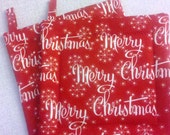 Red Merry Christmas Potholder Set