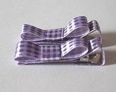 Satin Purple Plaid Tuxedo Bows  THANKSGIVING SHIPPING SPECIAL